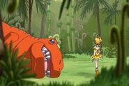 Pine ayuda al Dinosaurio