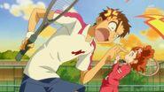 35. Yuuki furioso preguntado a Haruka porque eligio el Tenis si no sabe jugar
