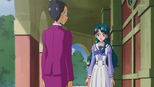 Minami talking to Zama-sensei