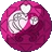 Pink heart seed