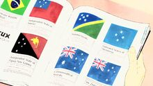 STPC10 A book showing flags that feature the southern cross