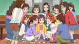 Haruka and classmates planning the fashion show