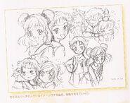 Nozomi y Rin Boceto