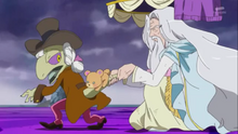 Mofurun and Kochou stopping Yamoh from going to Dorokushe