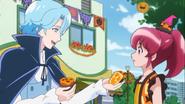 Blue comaprte con Megumi