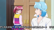 Blue le dice a megumi que solo tratan de hacerla feliz