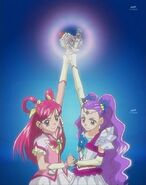 Cure Dream and Milky Rose joining forces