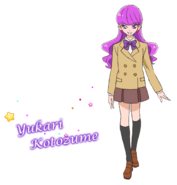 Perfil de Yukari con su uniforme escolar (TV Asahi)