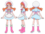 Perfiles de Ichika Usami con su uniforme de pastelera