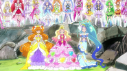 Princess Pretty Cure en el mode elegant primavera