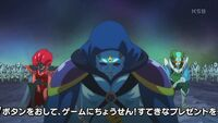 STPC41 Garuouga decides he should fight the Pretty Cure this time
