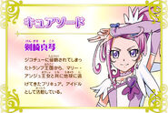 Cartel de Cure Sword en Pretty Cure All Stars New Stage 3