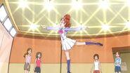 Haruka mostrando una pose de ballet