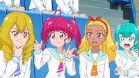 STPC16 Sakurako tells the girls that the archer is Nasu Yumika while Hikaru wonders when Sakurako sat next to her