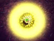 Poder creacion aterriza terreno luminoso