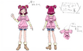 YPC5GG movie-BD art gallery-01-Yumehara Nozomi party clothes