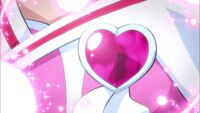 Love Link Heart creates her brooche
