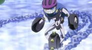 Cochecito Pupura usando su rueda especial para no resvalarse con la Diamond Shower