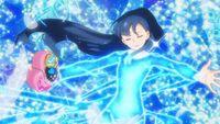 HuPC-Heart Kiratto-Ange-Saaya surrounded by blue light