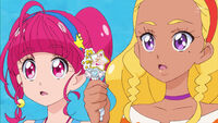 STPC17 Hikaru and Elena are surprised that they can keep the Virgo Princess Star Color Pen