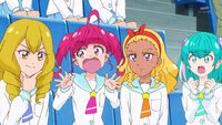 STPC16 Hikaru and Lala start to worry for Madoka since she'll have to go up against Yumika