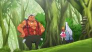 Labut se presenta ante Mirai y Kochou