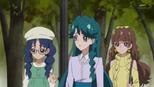 Minami and Kirara wondering about Haruka