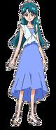 Minami con su vestimenta de verano