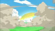 Sunshine logra defenderse con su escudo a tiempo