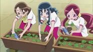 Todas las chicas trabajando juntas