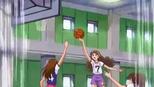 Kirara playing basketball