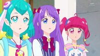 STPC14 Lala, Madoka and Hikaru are surprised when they hear the guitar come from the van