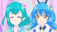 STPC44 Lala and Yuni smiling