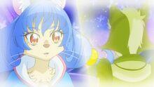 STPC38 Yuni looking at Hakkenyan's younger self