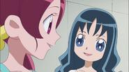 Tsubomi y Erika contentas porque todo acabo bien