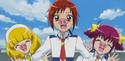 Akane, Yayoi and Miyuki as the little pigs