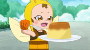 Chikurun about to eat thepudding