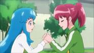 Megumi animando a hime