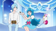 Hime diciendole a Blue que es hora de que ella le ayude