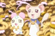 Tarte y Chiffon comiendo Donas de Kaoru