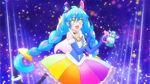 Rainbow Splash Aquarius version Cosmo posing with perfume
