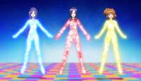 Miki, Inori and Setsuna Beat Up