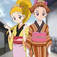 Urara and Rin in Edo clothes