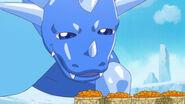 El dragon mirando las mandarinas