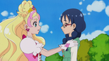 Yui thanking Flora
