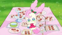 Kirarin with pet food