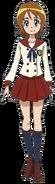 Perfil de Yuko con su uniforme escolar