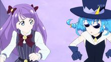 STPC17 Madoka tells Blue Cat they can't transform otherwise Doramusu will know who they are