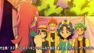 Aoi y su banda felicitando a Misaki