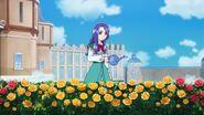 Liz waters the flowers